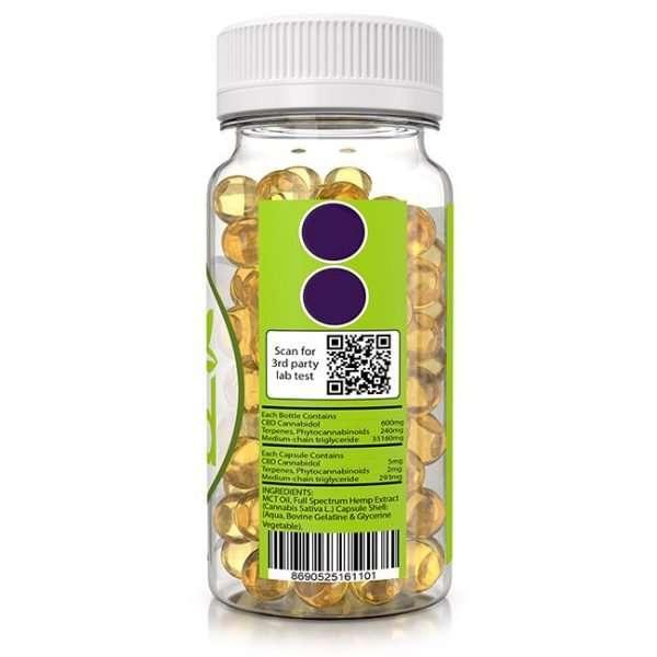 soft gel capsule 2400mg side 1